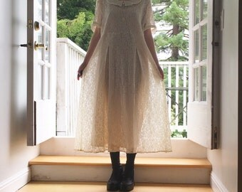 Cream Lace Sunday School Dress
