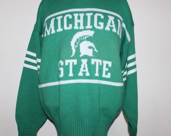 Vintage Michigan State Spartans Cliff Engle NCAA Sweater M