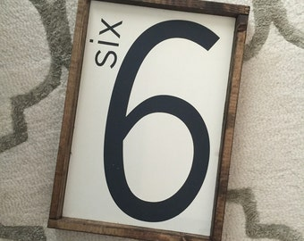 Family number sign