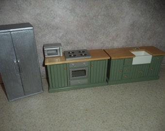1:12 scale Dollhouse Miniature Kitchen Appliance set (4pcs)