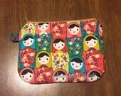 Nesting Dolls Zip Bag