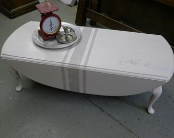Painted drop leaf coffee table - LOCAL PICKUP ONLY [no shipping]