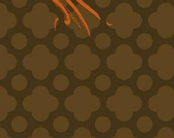 Mendocino Heather Ross Brown Orange Octopus Windham Cotton 40939-2 Fabric