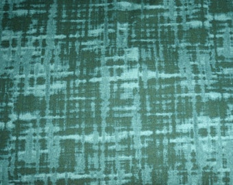 RIVERWOODS Troy College Green Blender Tonal Solid Plaid Fabric BTY