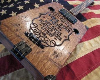Lone Star Hotel Cigar box Guitar