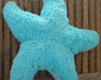 Starfish pillow,nautical pillows, nautical decor, beach house pillow, coastal living, cobblestone starfish pillow