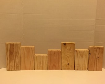 Unfinished Craft Blocks - DIY - Craft Blocks - Unfinished 7