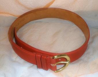 Vintage  Signed Belt / Coach Belt /  Red Belt / Unused Conditions