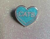 ON SALE Glitter Cat Lovers Enamel Pin