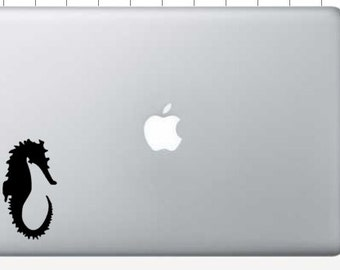seahorse macbook, computer, laptop, car, vinyl decal
