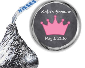 108 Princess Baby Shower Hershey Kiss Labels
