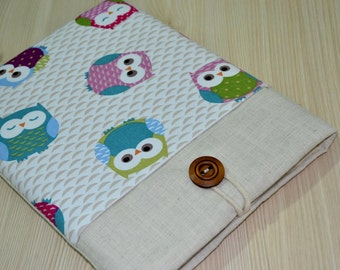 Tablet cover with Pocket, iPad case , iPad Air sleeve , iPad cover , iPad Pro case , ipad 3 case, padded with pockets- OWL
