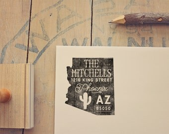 Arizona Return Address State Stamp - Personalized Rubber Stamp