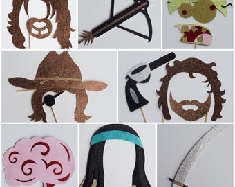 Zombie Photo Booth Props ;  Apocalypse Party Decor ; Walking Dead Party