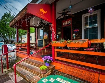 Restaurant in Mount Washington Village, in Baltimore, Maryland.   Photo Print, Stretched Canvas, or Metal Print.