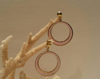 Vintage mod retro pink earrings