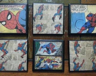 Spiderman Drink Coasters