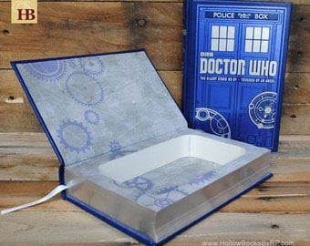 Hollow Book Safe - Doctor Who - Blue Tardis Leather Bound