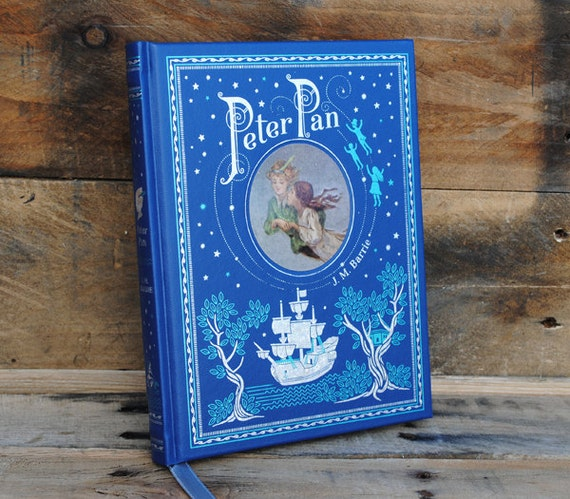 Hollow Book Safe - Peter Pan - Blue Leather Bound