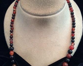 Vintage Graduated Gemstone Necklace