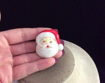 Vintage Christmas Santa Claus Pin