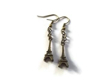 Eiffel Tower Earrings, Paris, Tour Eiffel, France, Cute Earrings, Chic Jewelry, Vive La France, Gifts for Her, Handmade Jewellery