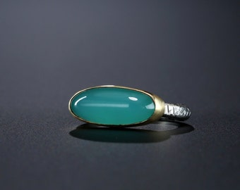 Chrome Chalcedony Ring, size 8.5