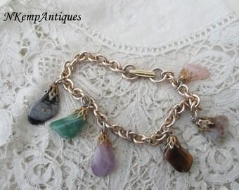 Vintage bracelet semi precious stones