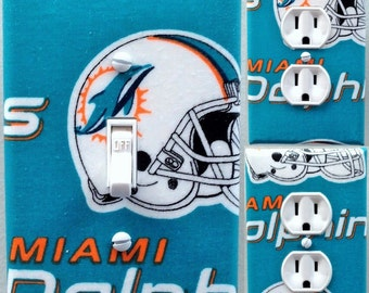 Miami Dolphins Light Switch and Outlet Covers
