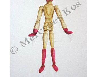 Iron Man Watercolor Print