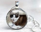 Custom Cat Necklace, Custom Cat Photo Necklace, Custom Cat Jewelry (CCN1)