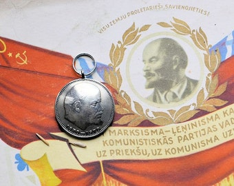 Coin pendant  for key//Russian  jewelry//Lenin  pendant//Key pendant//1 ruble USSR//Key//Russian Soviet coin//Lenin ruble//