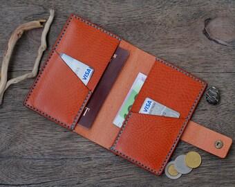 Leather Passport Wallet, Mens Wallets, Men's Leather Wallet, Groomsmen Gift, Mens Wallet, Gifts for Men