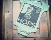 Hops infant one piece bodysuit for the brewer to be in your life-Unisex-Organic Cotton Royal Apparel-hops-beer-brewer-brew-baby clothes-gift