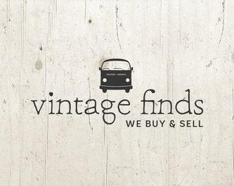 Vintage Logo - Logo Design - Premade Logo Vintage Shop Logo Personalized - Customized Vintage Antique Store Shop Business Logo