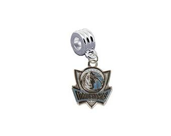 Dallas Mavricks Basketball European Charm for Bracelet, Necklace & DIY Jewelry