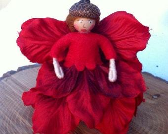 Red flower fairy