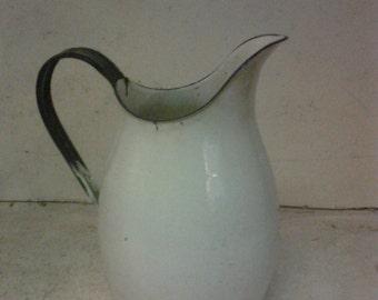 Enamelware pitcher