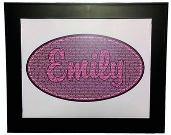 Personalized Name Word Art Print