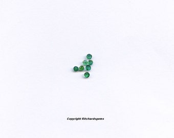 2 mm Natural Faceted round sakota mine Emerald from Brazil for One