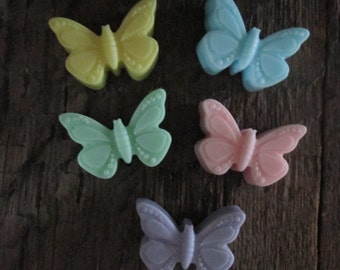 Shea Butter Butterfly Soap Favor Bag 5 Butterflies 2.5 oz. total Wedding, Bridal Shower, Birthday Favor