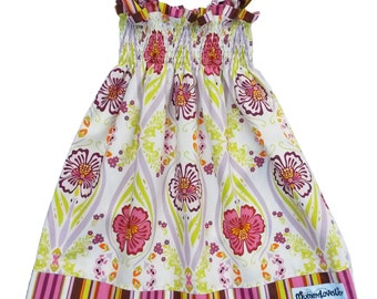 Size 18-24 months Shirred Dress, Shirred Summer Dress, Smocked Dress, Sundress, Girls Dress, Toddler Dress (Pink & Candy) READY TO SHIP