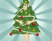 """Christmas card """"christmas pin-up tree"""""""