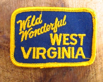 Vintage West Virginia Souvenir Patch - Wild Wonderful West Virginia