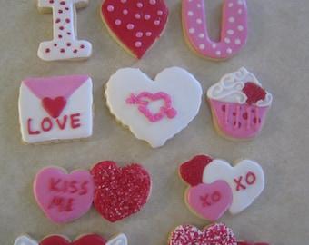 Valentine Hand Decorated Cookies
