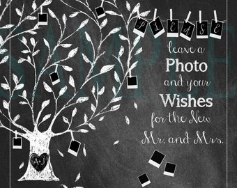 Photo Guest Book Sign, Wedding Guest Book- 16 x 20, 11 x 14, 8 x 10--- PRINTED--- ( Digital available)