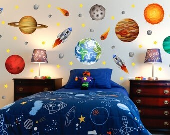 Outer Space Room Decor Outer Space Room Outer Space Wall Decal Space Kids