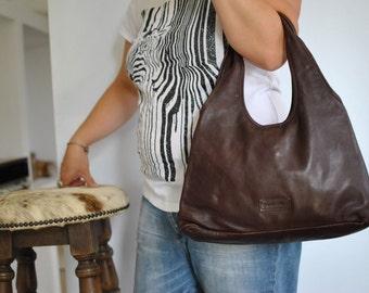 Vintage PAMILLO LEATHER BAG , leather handbag ....(293)