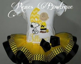 Charlie Brown Ribbon Tutu Set
