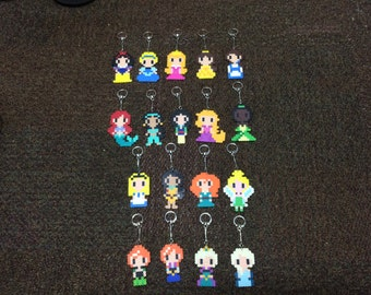 Disney Girls (Princesses or Otherwise) Keychains - Homemade